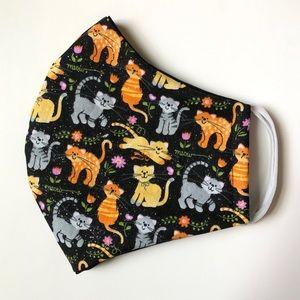2/$15 SALE Cat Print Face Mask OSFM Cotton